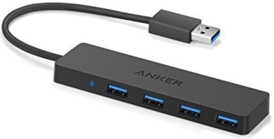 Concentrador de acoplamiento delgado USB 3.0