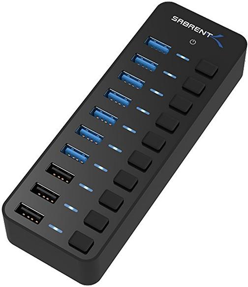 Concentrador Sabrent USB 3.0 de 10 puertos