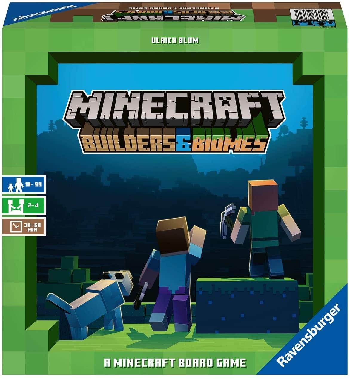 Recce la imagen de los constructores y biomas de Minecraft