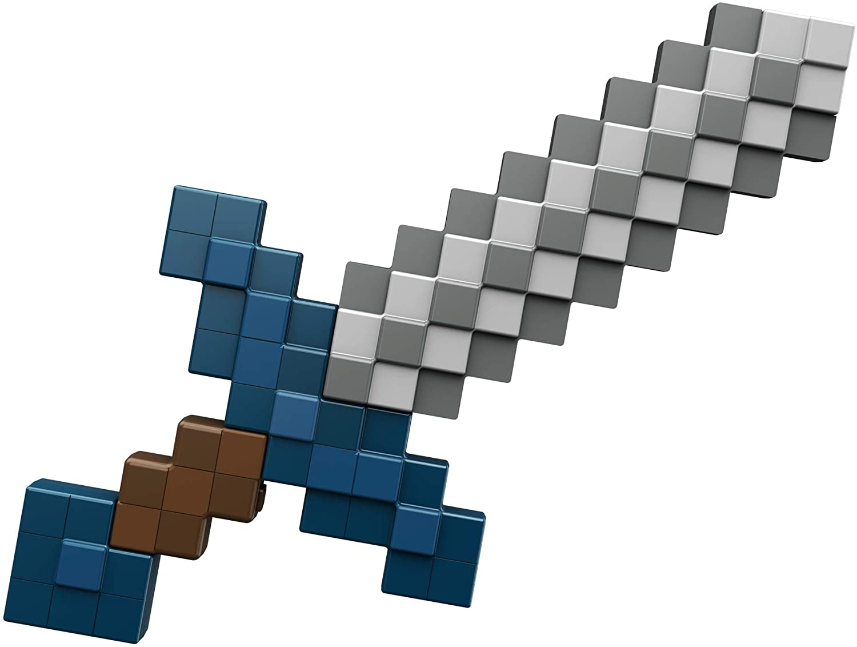 Imagen de reconocimiento de espada de tamaño natural de Minecraft