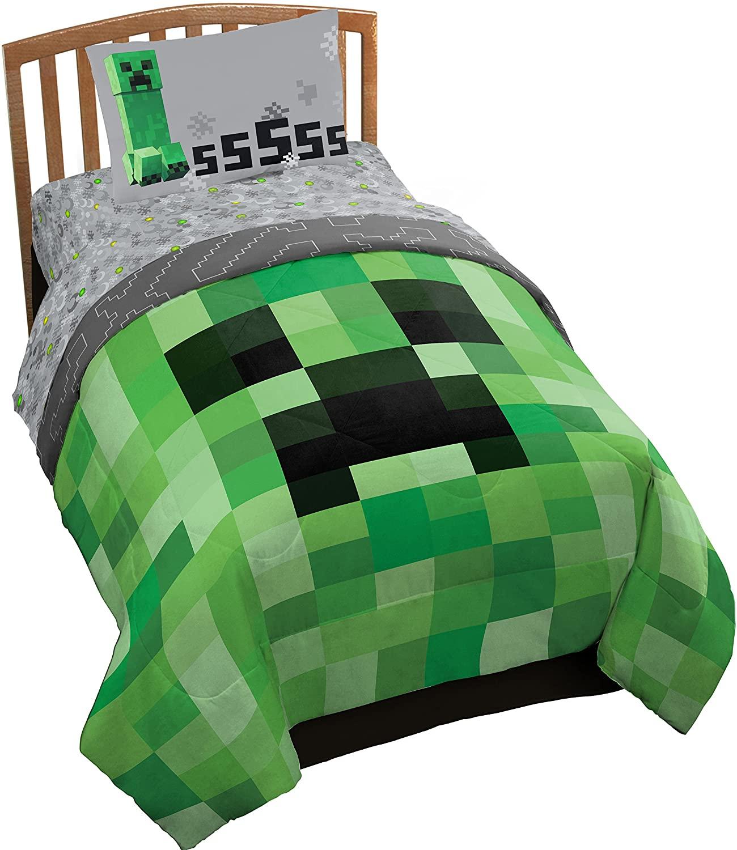 Minecraft Creeper Juego De Cama Twin Reco Image
