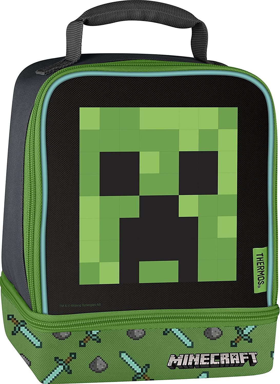 Minecraft Thermos Fiambrera Doble Imagen Reco