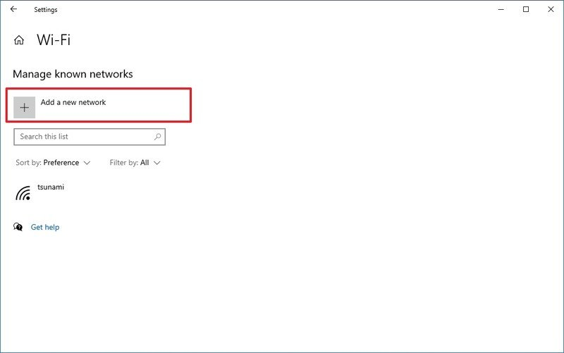 La configuración agrega una nueva opción de red inalámbrica
