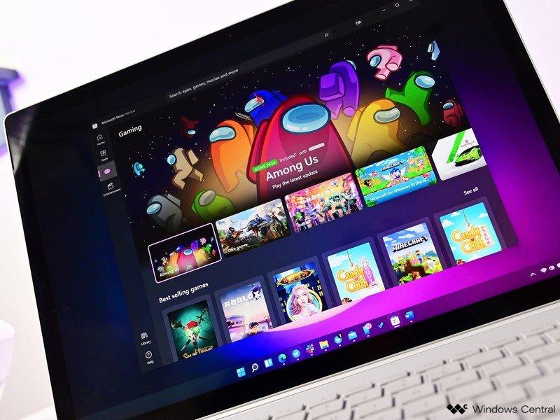 Tienda Windows 11nuevo Surfacebook oscuro