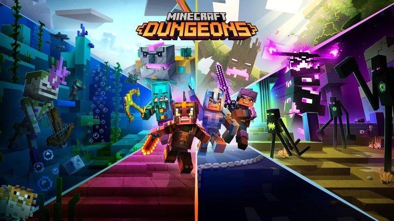 Ilustraciones clave de Minecraft Dungeons Ultimate Edition