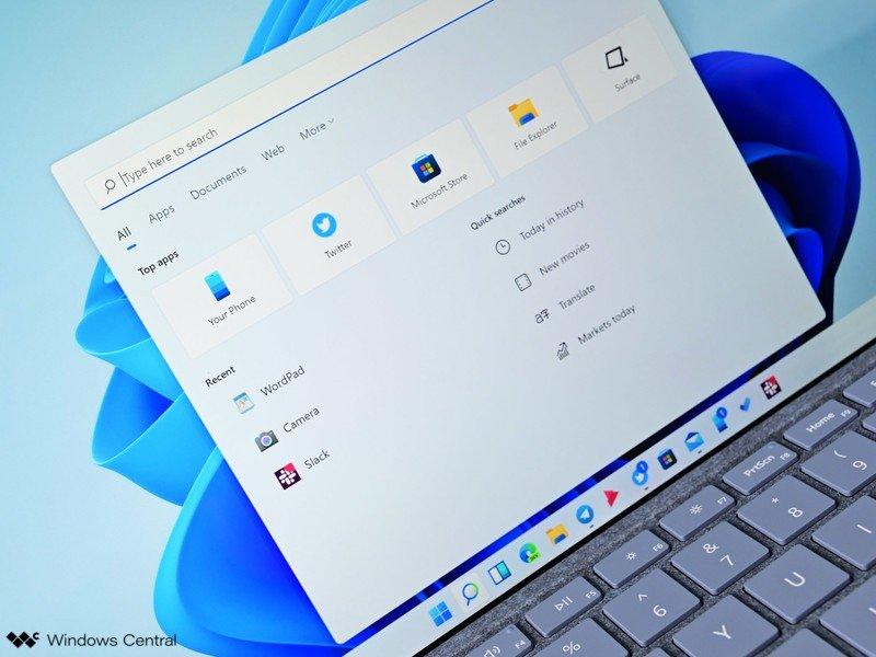 Luz de búsqueda de Windows 11