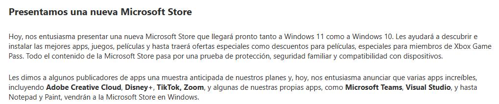 Microsoft habla de Microsoft Store