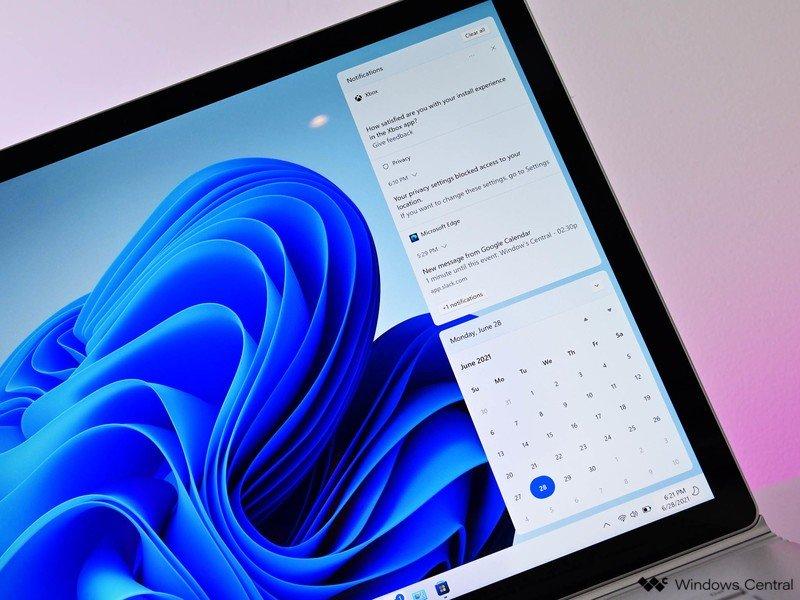 Acción de notificación de Windows 11