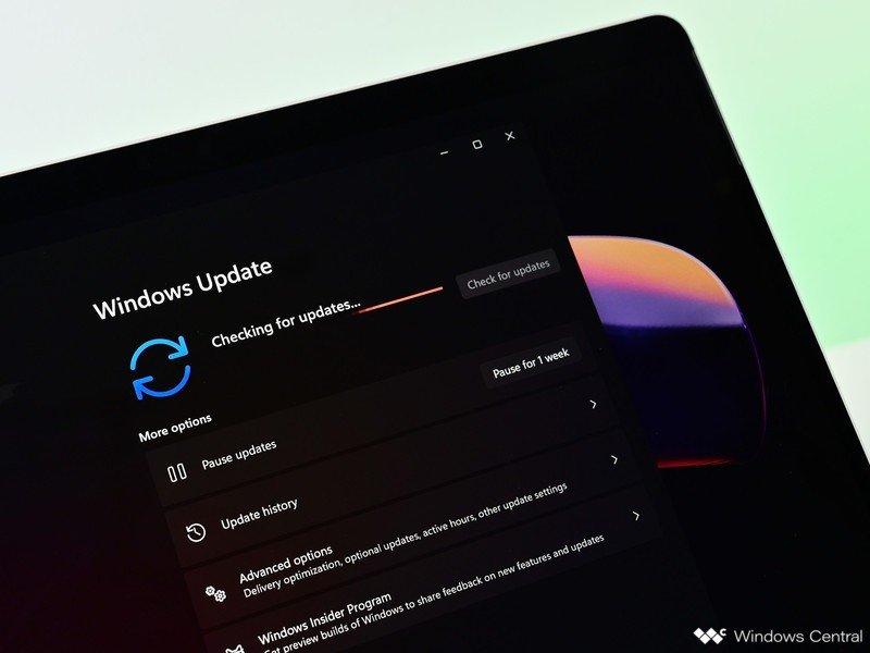 Comprobación de actualización de Windows 11 Dark