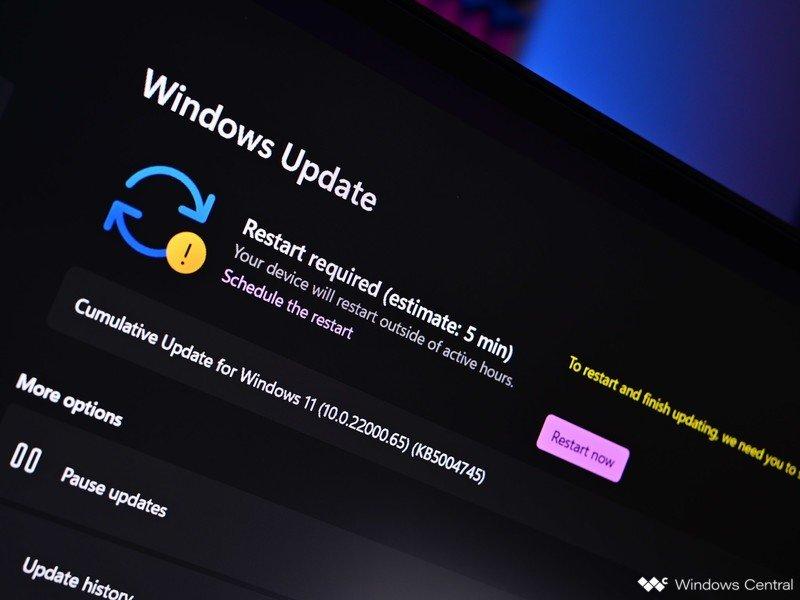 Actualización de Windows 11 Estimación de actualización de Windows Nuevo oscuro