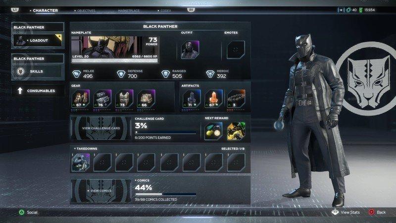 Vengadores Black Panther Gear