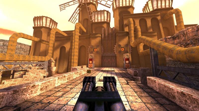 Captura de pantalla de la tienda outlet de Quake