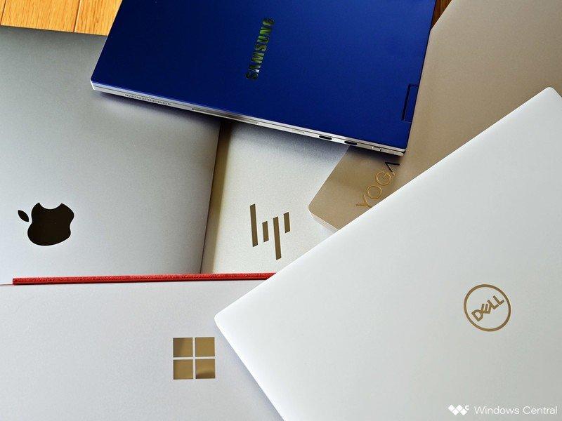 Logotipos de portátiles Apple Dell Ms Yoga Hp