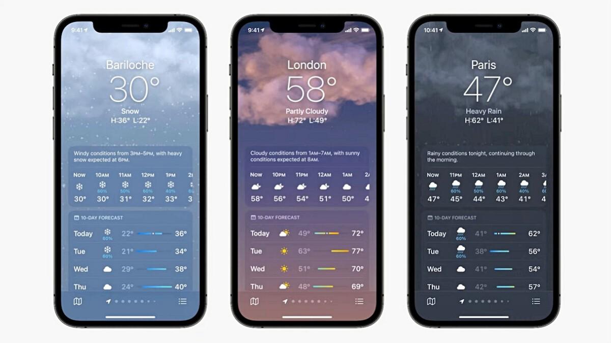 Clima destacado en iOS-15