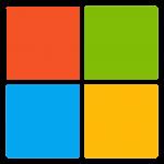 Logotipo transparente de Microsoft Square